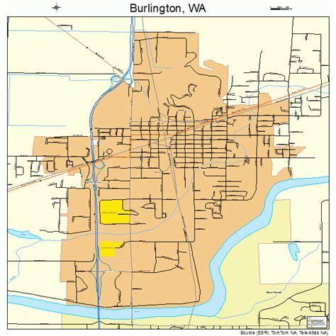 burlington map burlington washington map 5308920