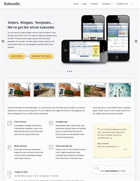Theme Wordpress Kaboodle | clean business wordpress theme with slider kaboodle dobeweb