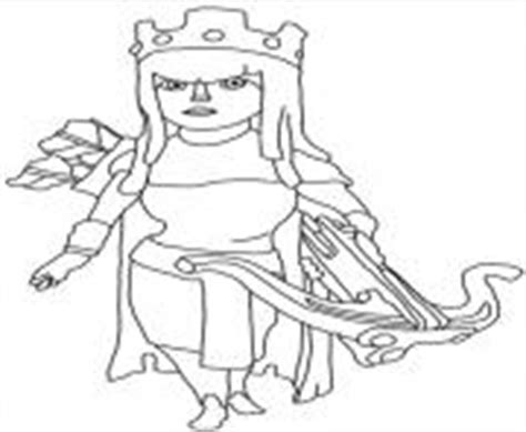 clash of clans archer queen coloring page preview clash of clan coloring pages
