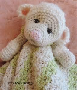 Comfort Bunny Crochet Pattern Lamb Huggy Blanket Lovey By Teri Crews Instant