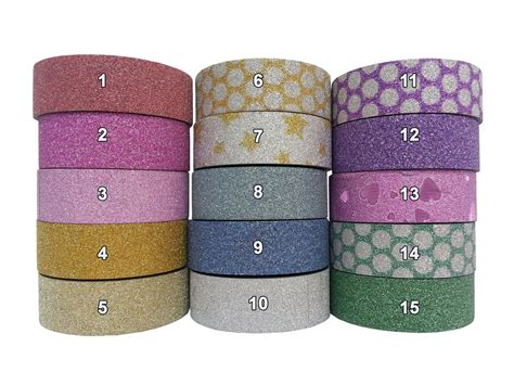 Self Adhesive Craft Paper - glitter washi paper masking gift wrap self adhesive