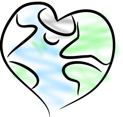 earth heart coloring page earth heart coloring clipart best