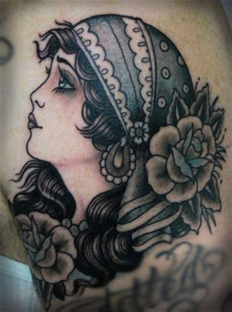 gypsy head tattoo designs top 9 designs and pictures styles at