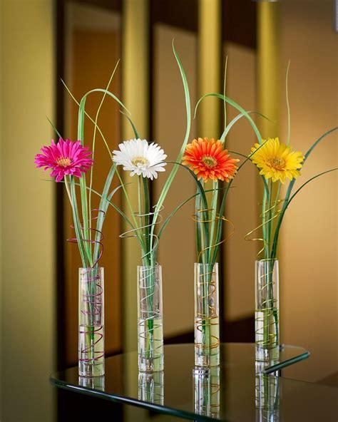 How To Arrange Gerbera Daisies In A Vase by Gerbera Silk Flower Bud Vase White