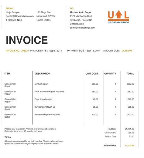 Detailed Invoice Template Invoice Template Ideas Detailed Template