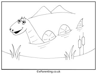 loch ness monster coloring coloring pages