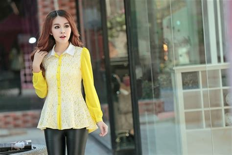 Kemeja Yellow kemeja lace bl2966 yellow tamochi