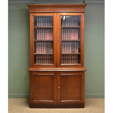 beautiful quality large victorian figured mahogany antique glazed bookcase on cupboard quality victorian mahogany antique glazed bookcase