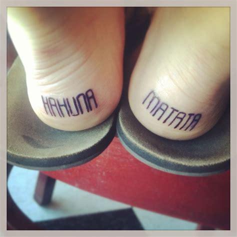 tattoo back heel hakuna matata back heel tattoos