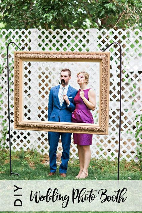 diy wedding photo booth using an open back picture frame wedding in 2019 diy wedding photo