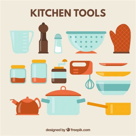 Kitchen Accessories Vector Free Kitchen Tools Icon Set Vector Free