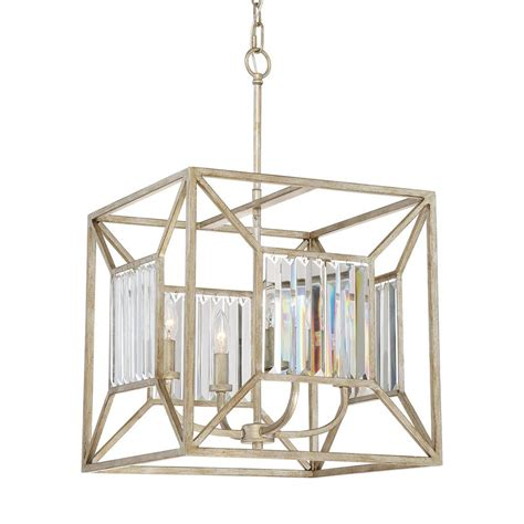 Gold Cage Chandelier Shop Quoizel Sabrina 16 In 4 Light Vintage Gold