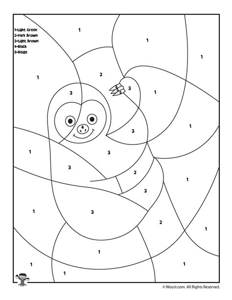 color by number preschool preschool color by number animal coloring pages road