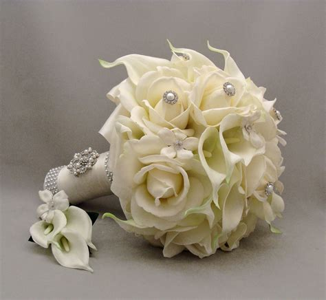 silk bridal bouquet wedding bouquets silk flowers