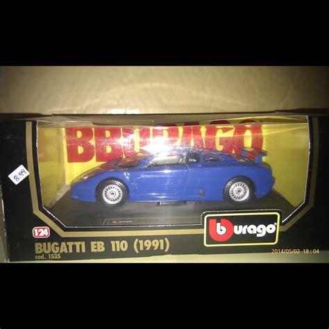 Diecast Miniatur 124 1991 Bugatti Eb 110 Bburago bugatti eb110 1991 curios and wonders