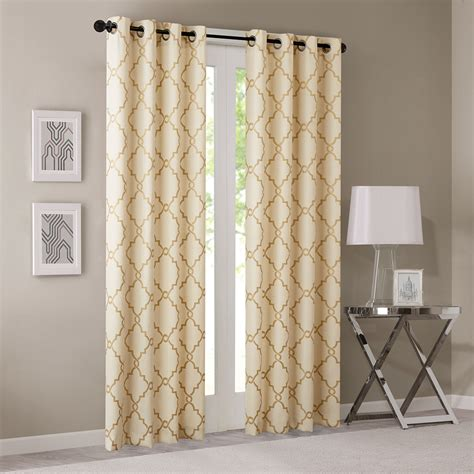 fretwork curtains madison park saratoga fretwork print window curtain ebay