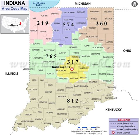 area code maps usa area code map indiana afputra