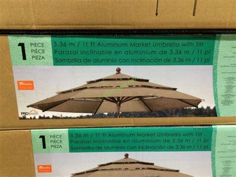11 Foot Patio Umbrella Costco by Proshade 11 Market Umbrella With Hardwood Pole Costcochaser