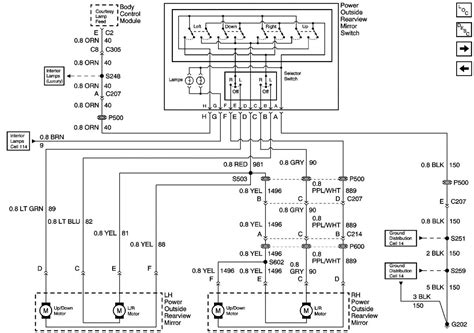 pontiac vibe power mirror wiring diagram