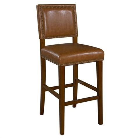 Brown Stools by Linon Brook 30 Caramel Brown Bar Stool Ebay