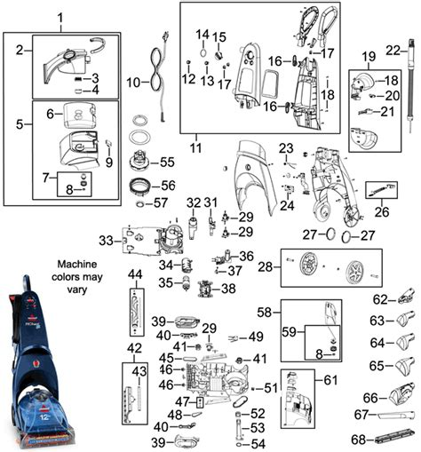 bissell proheat parts diagram bissell 8920 proheat 2x cleaner parts