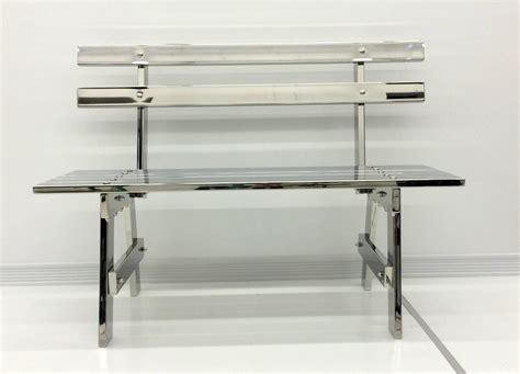 steel park benches sculptural modern stainless steel park bench for sale at