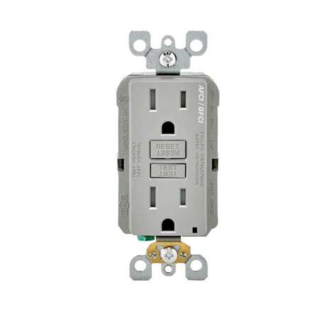leviton 15 125 volt afci gfci dual function outlet