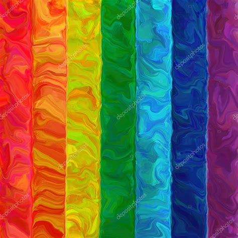 color pattern art abstract art brush oil painting rainbow horizontal color