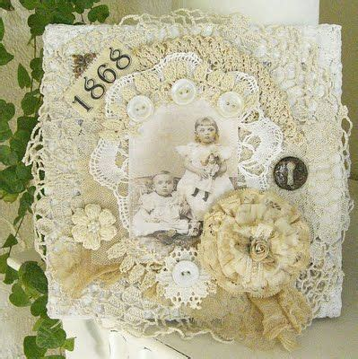 shabby chic buttons doilies buttons and lace oh my altered items