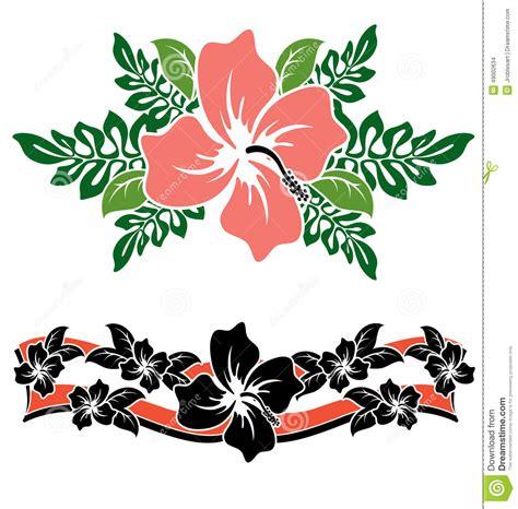fiori hawaiani fiori hawaiani dell ibisco illustrazione vettoriale