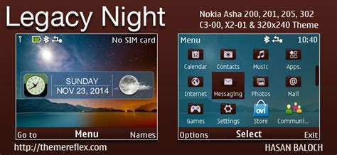 live themes nokia 200 legacy night live theme for nokia c3 00 x2 01 asha 200