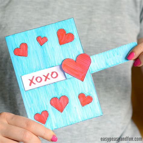 pull out card template message s day card easy peasy and