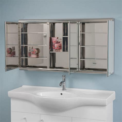 Cosmopolitan Stainless Steel Tri View Medicine Cabinet