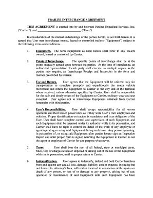Trailer Agreement Fill Online Printable Fillable Blank Pdffiller Trailer Lease Agreement Template