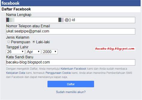 buat akun facebook tanpa nama tutorial terbaru membuat akun facebook tanpa nama demit