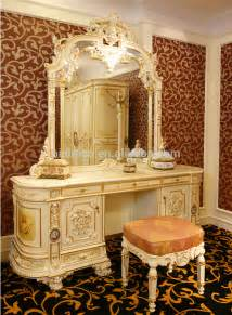 luxury rococo bedroom furniture dresser table