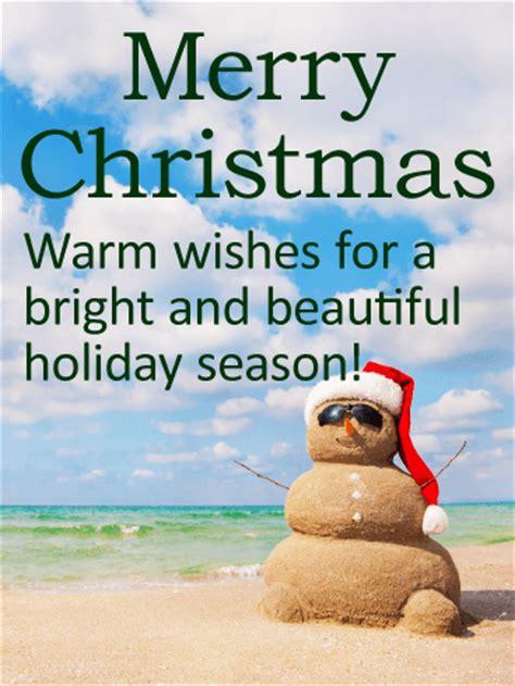 sand snowman christmas card birthday greeting cards  davia