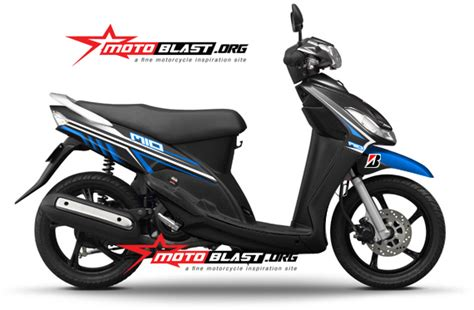 Modif Mio Soul Hitam Dop by Modif Striping Yamaha Mio Sporty Motoblast