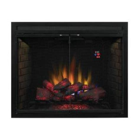 built in fireplace screens spectrafire 39 in traditional built in electric fireplace insert with glass door and mesh