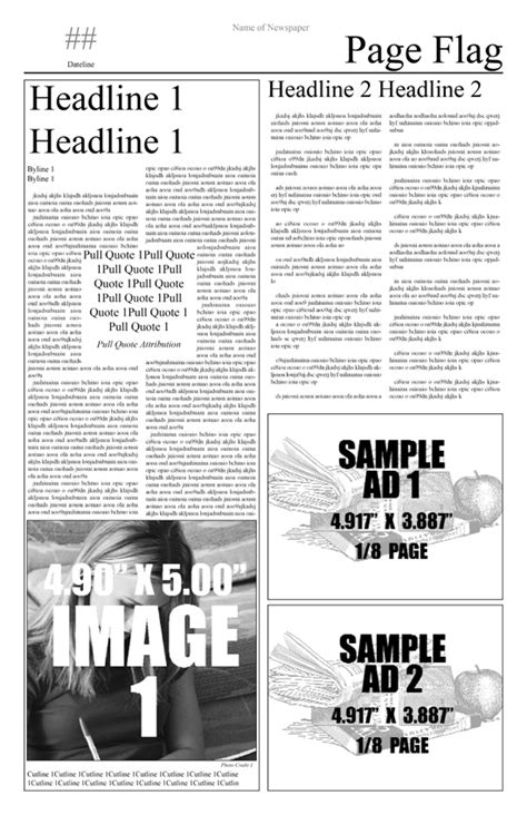 newspaper indesign template newspaper template free choose from indesign templates here