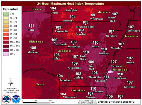 entire state under heat advisory or warning
