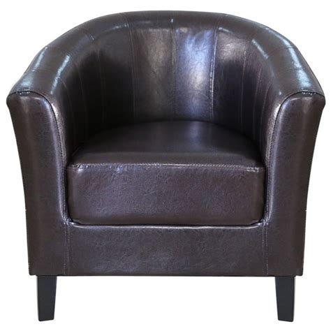 faux leather tub sofa modern wood faux leather tub sofa chair in brown buy
