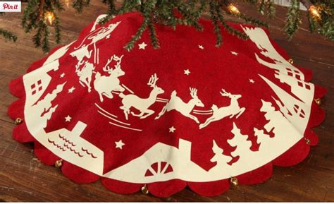 vintage tree skirt the decorated nest the nested design