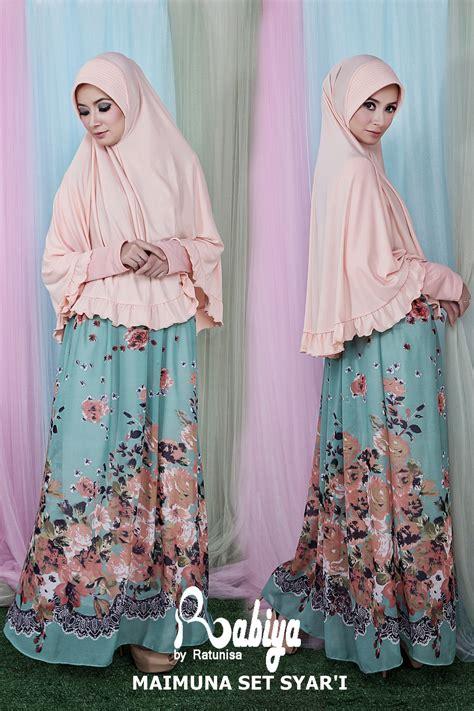 Baju Muslim Syari Queena maimuna set syari baju muslim gamis modern