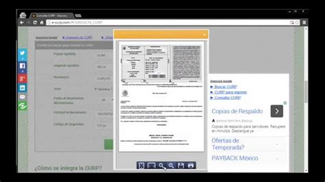 como sacar el rfc y curp por internet consulta de curp imprimir curp sacar tramitar el tramite