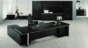 black office furniture modern executive office desk