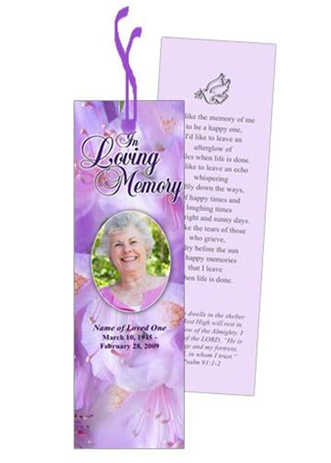 free memorial bookmark template 1000 ideas about bookmark template on corner