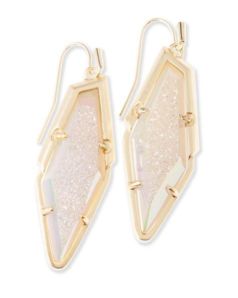Shop Kendra Scott Bex Drop Earrings In Iridescent Drusy in