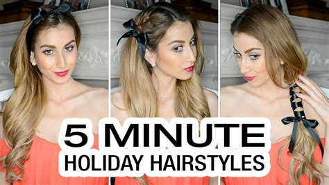 five minute hairstyles for goths 5 minute holiday hairstyles youtube
