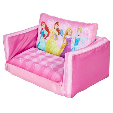 Disney Princess Sofa Bed Disney Princess Flip Out Sofa Cinderella Rapunzel Pink New Ebay